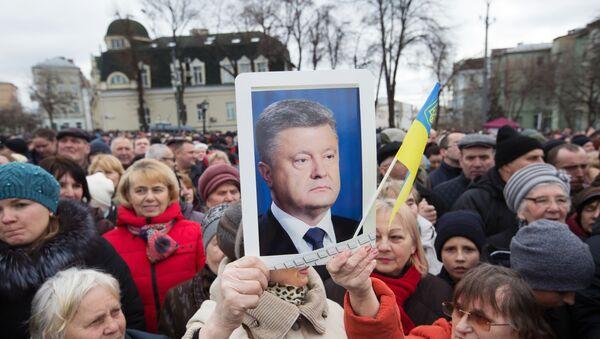 Встреча П. Порошенко с избирателями - Sputnik Ўзбекистон