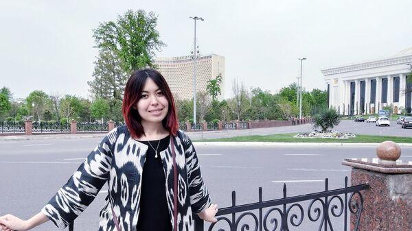Turistka iz Kazaxstana Dinara Kurmanova v Tashkente - Sputnik Oʻzbekiston