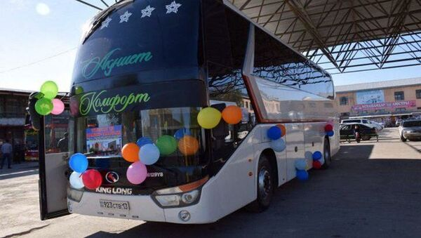 Запущен новый международный автобусный маршрут Самарканд – Туркистан - Sputnik Ўзбекистон