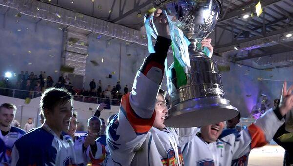 В битве за кубок: самые яркие кадры финала чемпионата Узбекистана по хоккею - Sputnik Ўзбекистон