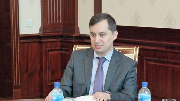 Директор Национального межбанковского процессингового центра Шухрат Курбанов - Sputnik Ўзбекистон