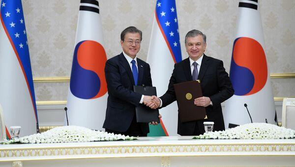 Государственный визит Президента Республики Корея Мун Чжэ Ина в Узбекистан  - Sputnik Узбекистан