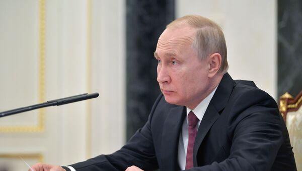 Президент РФ В. Путин провел совещание с членами правительства РФ - Sputnik Ўзбекистон