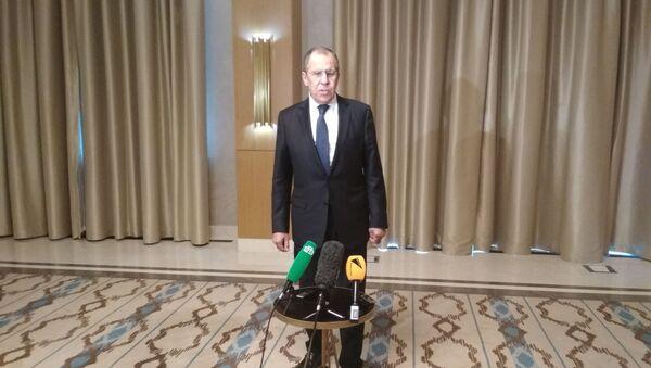 Пресс-конференция главы МИД РФ Сергея Лаврова по итогам переговоров в Ташкенте - Sputnik Узбекистан