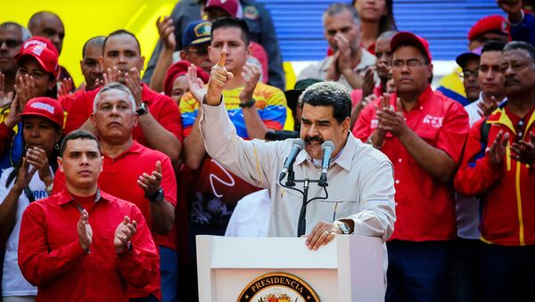 Акция в поддержку президента Венесуэлы Н. Мадуро - Sputnik Ўзбекистон