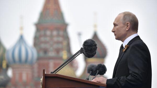 Президент РФ В. Путин на военном параде в честь 74-й годовщины Победы - Sputnik Ўзбекистон