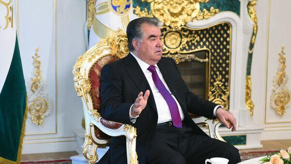 Президент Таджикистана Эмомали Рахмон - Sputnik Ўзбекистон