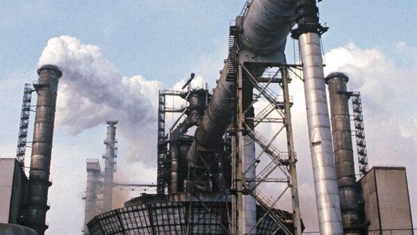 Аргонная установка в цехе непрерывной разливки стали  - Sputnik Узбекистан