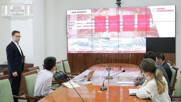 Администрация города Ташкента провела встречу с директором Kaukointernational Finland Маркусом Тукканеном - Sputnik Узбекистан