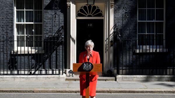 Премьер-министр Великобритании Тереза Мэй в Лондоне. 24 мая 2019 - Sputnik Ўзбекистон