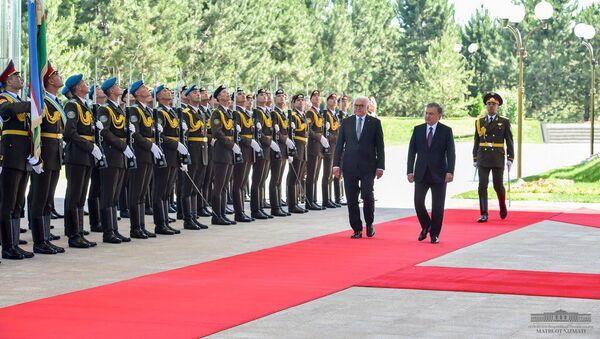 Визит Президента Федеративной Республики Германия Франк-Вальтера Штайнмайера  - Sputnik Ўзбекистон