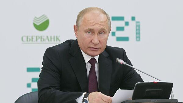 Prezident RF V. Putin posetil shkolu programmirovaniya Shkola 21 - Sputnik Oʻzbekiston