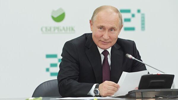 Президент РФ В. Путин посетил школу программирования Школа 21 - Sputnik Ўзбекистон