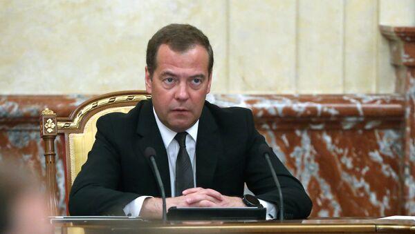 Премьер-министр РФ Д. Медведев - Sputnik Ўзбекистон