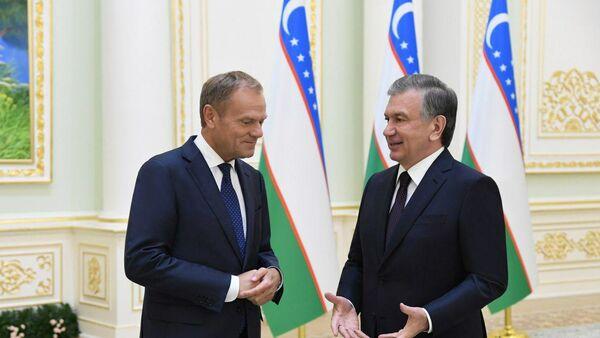 Шавкат Мирзиёев встретился с главой Европейского Совета - Sputnik Ўзбекистон