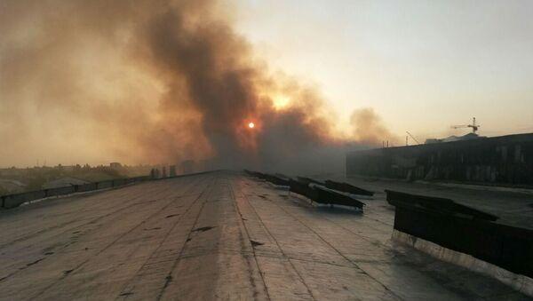 Стали известны подробности пожара на рынке в Маргилане - Sputnik Узбекистан
