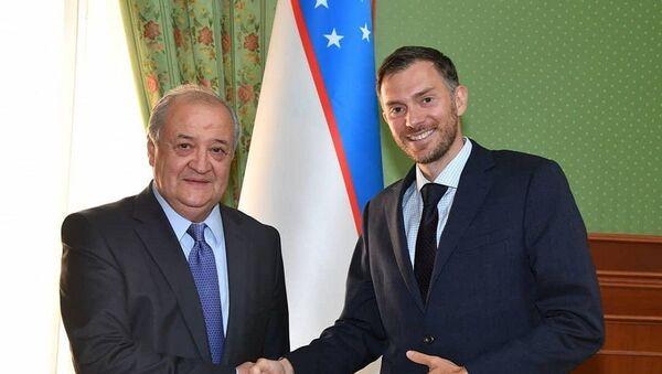 Абдулазиз Камилов и посол Великобритании Кристофер Аллан - Sputnik Ўзбекистон