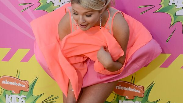 Актриса Стефани Скотт на церемонии вручения Nickelodeon's 26th Annual Kids' Choice Awards - Sputnik Ўзбекистон