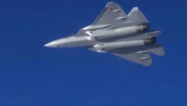 Полеты новейших истребителей Су-57 в Сирии - Sputnik Ўзбекистон
