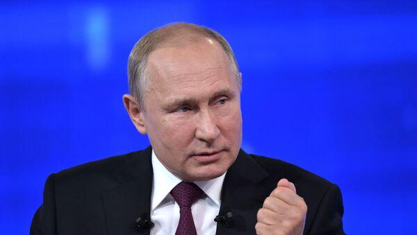 Pryamaya liniya s prezidentom RF Vladimirom Putinыm - Sputnik Oʻzbekiston