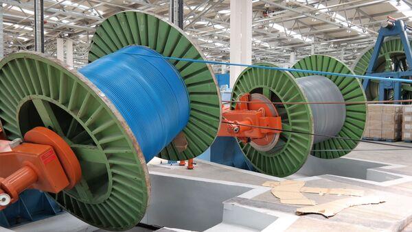 Производство высоковольтных кабелей в Наваи СЭЗ - Sputnik Ўзбекистон