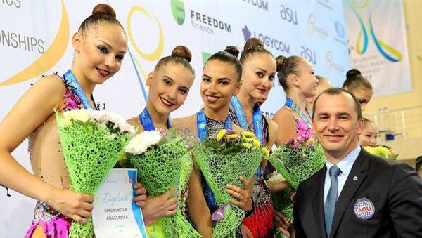 Гимнасткам из Узбекистана вручили золотые медали за победу в командном первенстве на чемпионате Азии2017 года - Sputnik Ўзбекистон