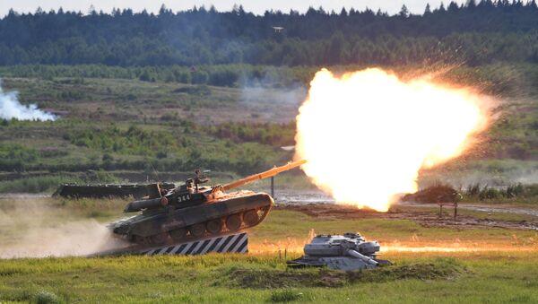 Танк Т-90А на  V Международном военно-техническом форуме Армия-2019 - Sputnik Ўзбекистон