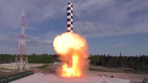 Испытание новой баллистической ракеты Сармат - Sputnik Ўзбекистон