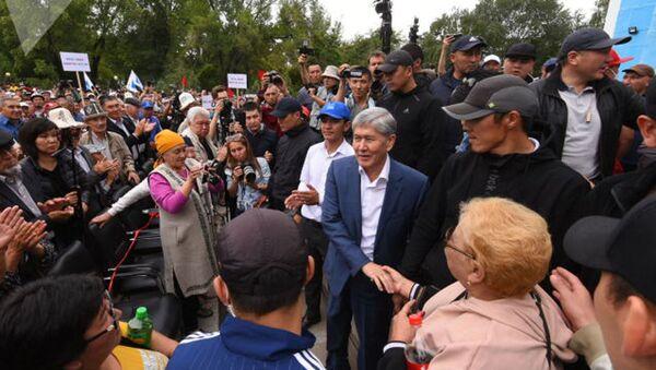 Miting storonnikov Atambayeva v Bishkeke  - Sputnik Oʻzbekiston