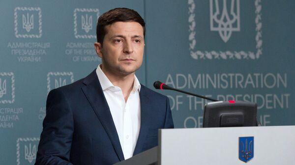 Президент Украины Владимир Зеленский - Sputnik Ўзбекистон