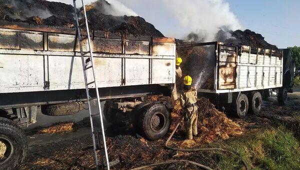 Пожар на грузовом автомобиле стал причиной трагедии - Sputnik Ўзбекистон