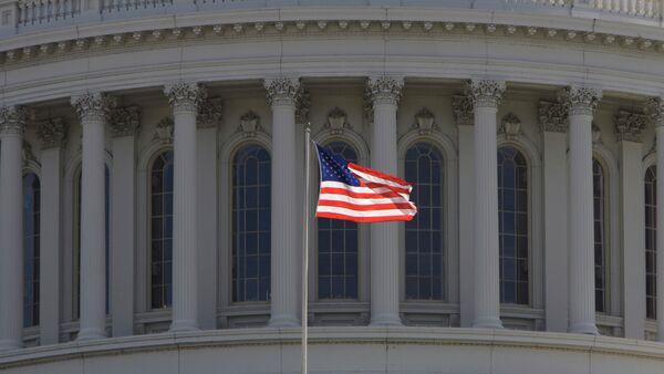 Фрагмент Капитолия - здание Конгресса США в Вашингтоне - Sputnik Ўзбекистон