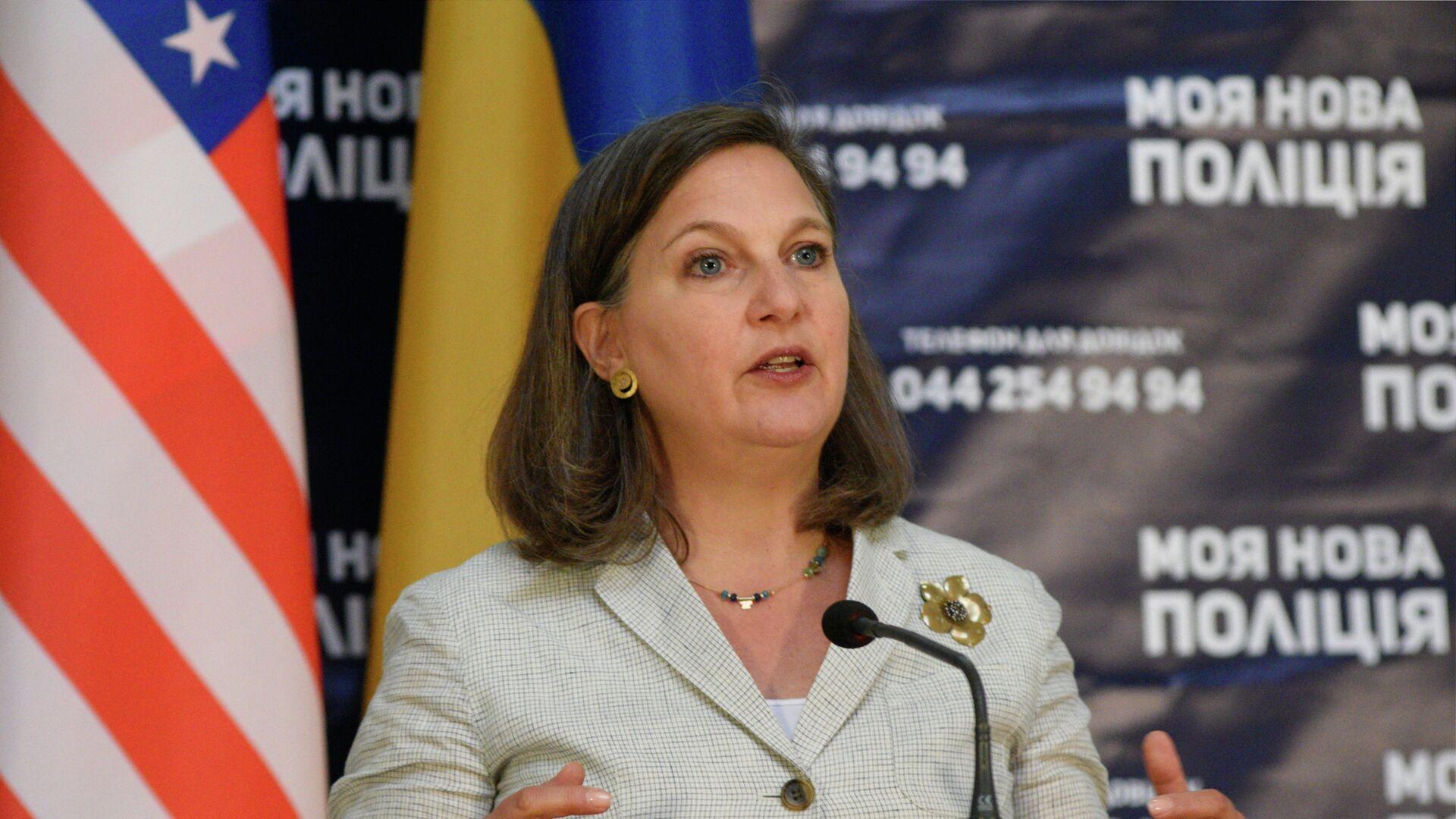 Помощник госсекретаря США Виктория Нуланд в Киеве - Sputnik Ўзбекистон, 1920, 12.10.2021