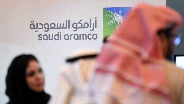Логотип компании Saudi Aramco - Sputnik Ўзбекистон