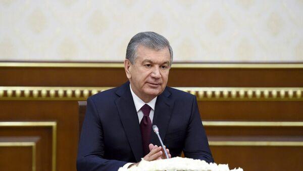 Shavkat Mirziyoyev vo vremya vstrechi s predstavitelyami Vsemirnogo banka - Sputnik Oʻzbekiston