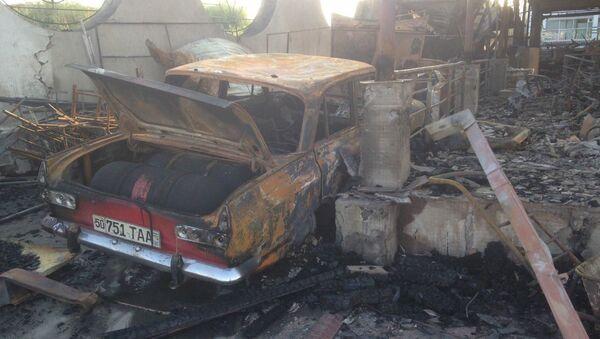 Крупный пожар вспыхнул на рынке Чорсу в Намангане - Sputnik Ўзбекистон