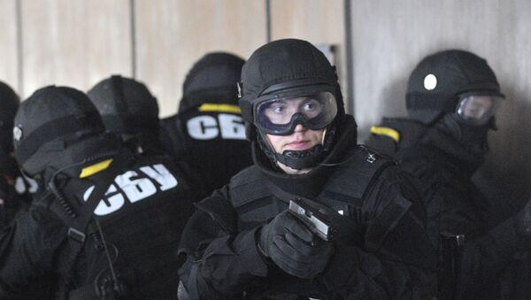 Вооруженные агенты украинской Службы национальной безопасности (СБУ) - Sputnik Узбекистан