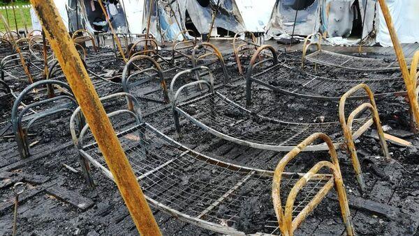 Пожар в палаточном городке в Хабаровском крае - Sputnik Ўзбекистон