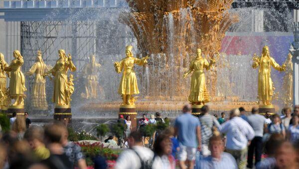 Фонтан Дружба народов на ВДНХ в Москве - Sputnik Узбекистан