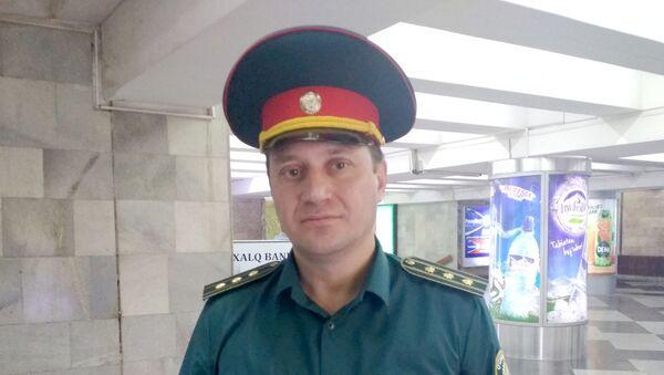 Начальник управления по обеспечению безопасного туризма ГОВД г Ташкента Рустам Сайфулов - Sputnik Узбекистан