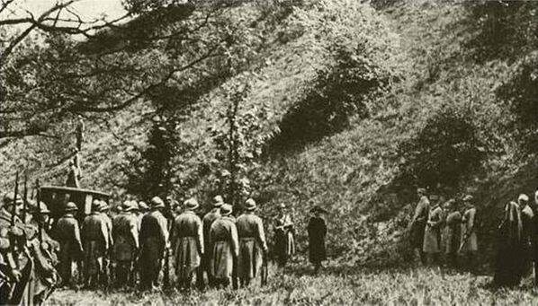 Расстрел Маты Хари. Кадр из фильма-реконструкции 1920 года - Sputnik Узбекистан