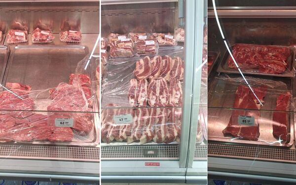 Цены на разные виды мяса в сетевом магазине в Ташкенте - Sputnik Узбекистан