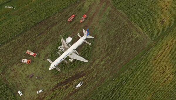 Пассажирский самолёт совершил аварийную посадку в Подмосковье - Sputnik Узбекистан