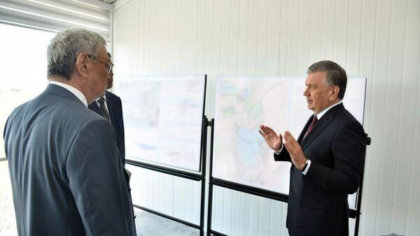 Президент оценил, как создаются водоемы в Муйнакском районе - Sputnik Узбекистан