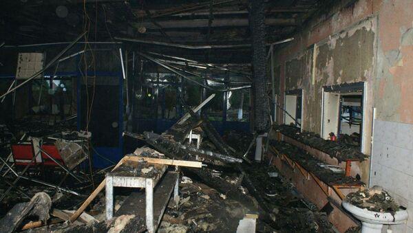 Сильный пожар произошел в телецентре в Ташкенте - Sputnik Узбекистан