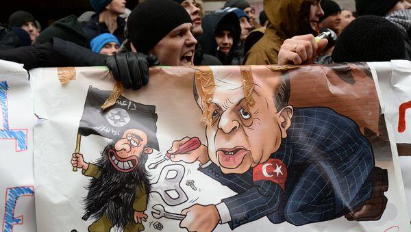 Акция протеста в Москве против действий ВВС Турции - Sputnik Узбекистан