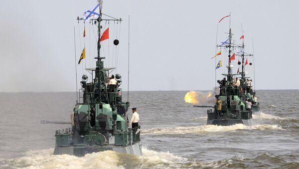 Учения батальона морской пехоты Каспийской флотилии - Sputnik Узбекистан