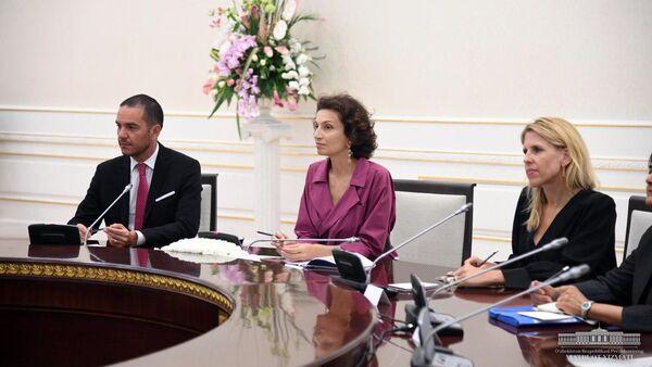 Генеральный директор Организации Объединенных Наций по вопросам образования, науки и культуры (ЮНЕСКО) Одри Азуле - Sputnik Узбекистан
