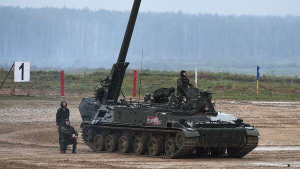 Samoxodnыy minomyot artillerii 2S4 Tyulpan - Sputnik Oʻzbekiston