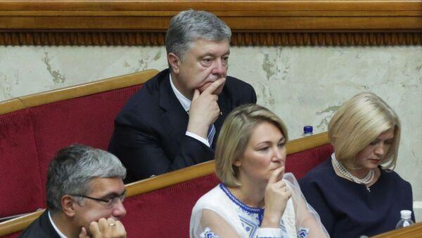 Бывший президент Украины Петр Порошенко - Sputnik Ўзбекистон